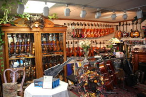 Petr's Violins & Guitars in Anchorage Alaska has a huge selection of Guitars to choose from.